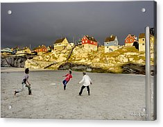 Soccer In Greenland Acrylic Print by Robert Lacy