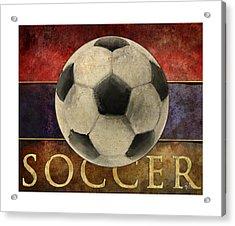 Soccer Poster Acrylic Print by Craig Tinder
