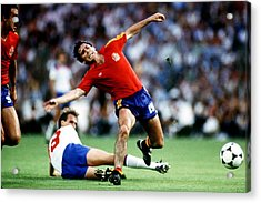 Soccer - World Cup Spain 82 - Group B - England V Spain Acrylic Print by Peter Robinson - EMPICS
