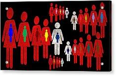 Social Responsibility 1 Part 3 Acrylic Print by Angelina Vick
