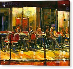 Socializing Acrylic Print by Michael Swanson