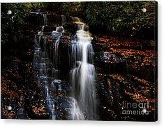 Soco Falls Acrylic Print by Manda Renee