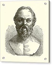 Socrates Acrylic Print by English School