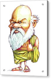 Socrates Acrylic Print by Gary Brown