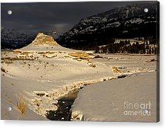 Soda Butte Yellowstone Acrylic Print by Deby Dixon