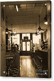 Soda Fountain And General Store Acrylic Print by Debra Crank
