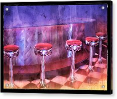 Soda Fountain Stools II Acrylic Print