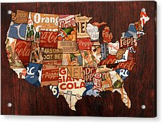 Soda Pop America Acrylic Print by Design Turnpike
