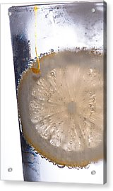 Soda With Lemon Acrylic Print by David Pinsent