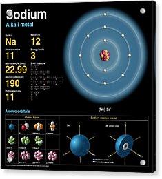 Sodium Acrylic Print by Carlos Clarivan