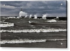 Acrylic Print featuring the photograph Sodus Waves by Chris Babcock