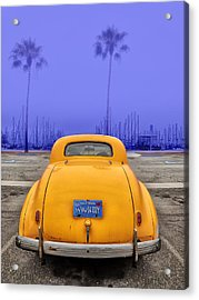 Sofa Car Almost Blue Acrylic Print
