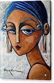 Acrylic Print featuring the painting Sofia by Oscar Ortiz