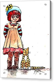 Sofie Acrylic Print by Marilyn Smith