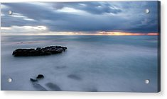 Soft Blue And Wide Acrylic Print by Peter Tellone