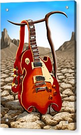 Soft Guitar Acrylic Print by Mike McGlothlen