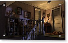 Acrylic Print featuring the painting Soft Landing by Ron Crabb