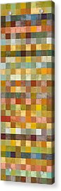 Soft Palette Rustic Wood Series Collage L Acrylic Print by Michelle Calkins
