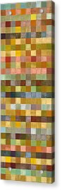 Soft Palette Rustic Wood Series Collage Ll Acrylic Print by Michelle Calkins