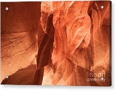 Soft Sculpted Sandstone Walls Acrylic Print