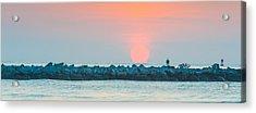 Soft Sunrise At Jetty Park Acrylic Print by Cliff C Morris Jr