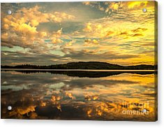 Acrylic Print featuring the photograph Soft Sunset by Rose-Maries Pictures