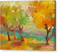 Soft Trees Acrylic Print by Michelle Abrams
