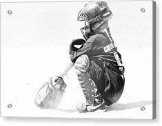 Softball Catcher Acrylic Print