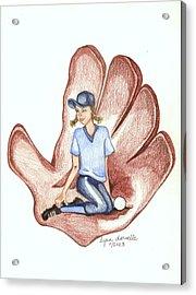 Softball Acrylic Print