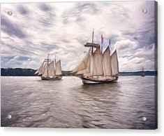 Softly Sailing Acrylic Print by Georgiana Romanovna