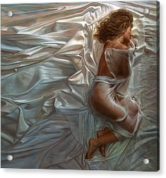 Acrylic Print featuring the painting Sogni Dolci by Mia Tavonatti