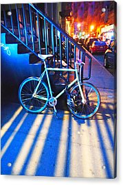 Acrylic Print featuring the photograph Soho Bicycle  by Joan Reese