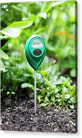 Soil Ph Meter Acrylic Print by Science Photo Library