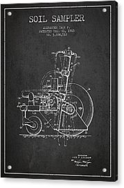 Soil Sampler Machine Patent From 1965 - Dark Acrylic Print by Aged Pixel