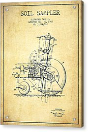 Soil Sampler Machine Patent From 1965 - Vintage Acrylic Print by Aged Pixel