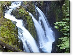 Sol Duc Waterfalls In Olympic National Park Acrylic Print by King Wu