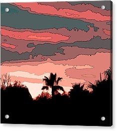 Acrylic Print featuring the digital art Solana Beach Sunset 1 by Kirt Tisdale
