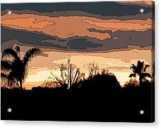 Acrylic Print featuring the digital art Solana Beach Sunset 2 by Kirt Tisdale