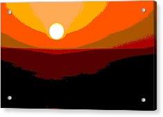 Solar Abstract Acrylic Print