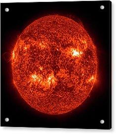Solar Activity Acrylic Print by Nasa/gsfc-svs/sdo Science Team/virtual Solar Observatory
