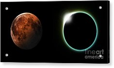 Solar And Lunar Eclipses Acrylic Print by Antony McAulay