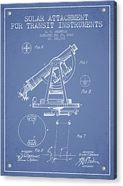 Solar Attachement For Transit Instruments Patent From 1902 - Lig Acrylic Print by Aged Pixel