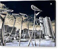 Solar City Acrylic Print by Wayne Sherriff