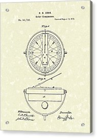 Solar Compass 1873 Patent Art Acrylic Print by Prior Art Design