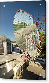 Solar Cookers At The Barefoot College Acrylic Print by Ashley Cooper