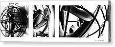 Acrylic Print featuring the photograph Solar Jail Triptych by Stwayne Keubrick