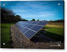 Solar Panels Mendocino County Acrylic Print