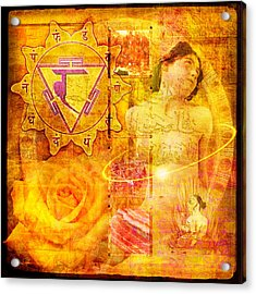 Solar Plexus Chakra Acrylic Print by Mark Preston