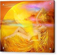 Solar Plexus Goddess Acrylic Print by Carol Cavalaris