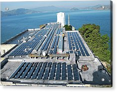 Solar Power At Alcatraz Acrylic Print by National Park Service/us Department Of Energy